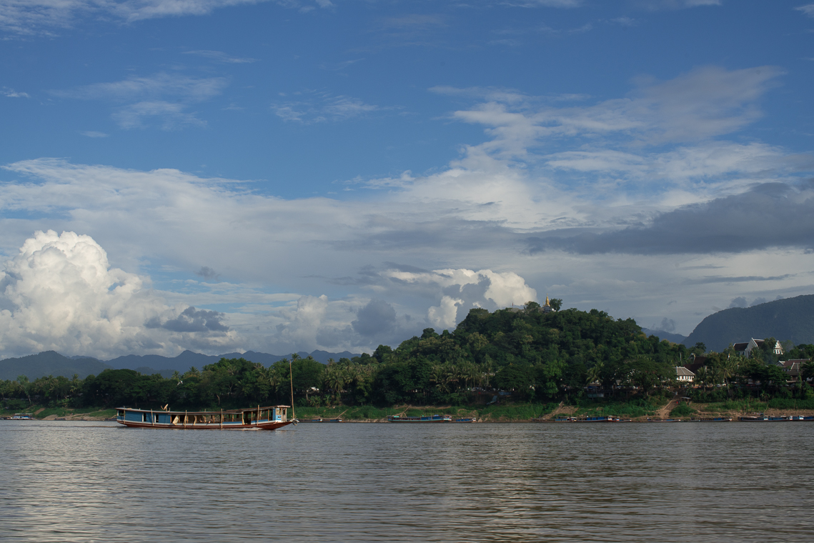 Luang Prabang view from Mekong River