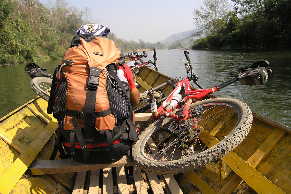 Mountain Bike Transport on Long Boats