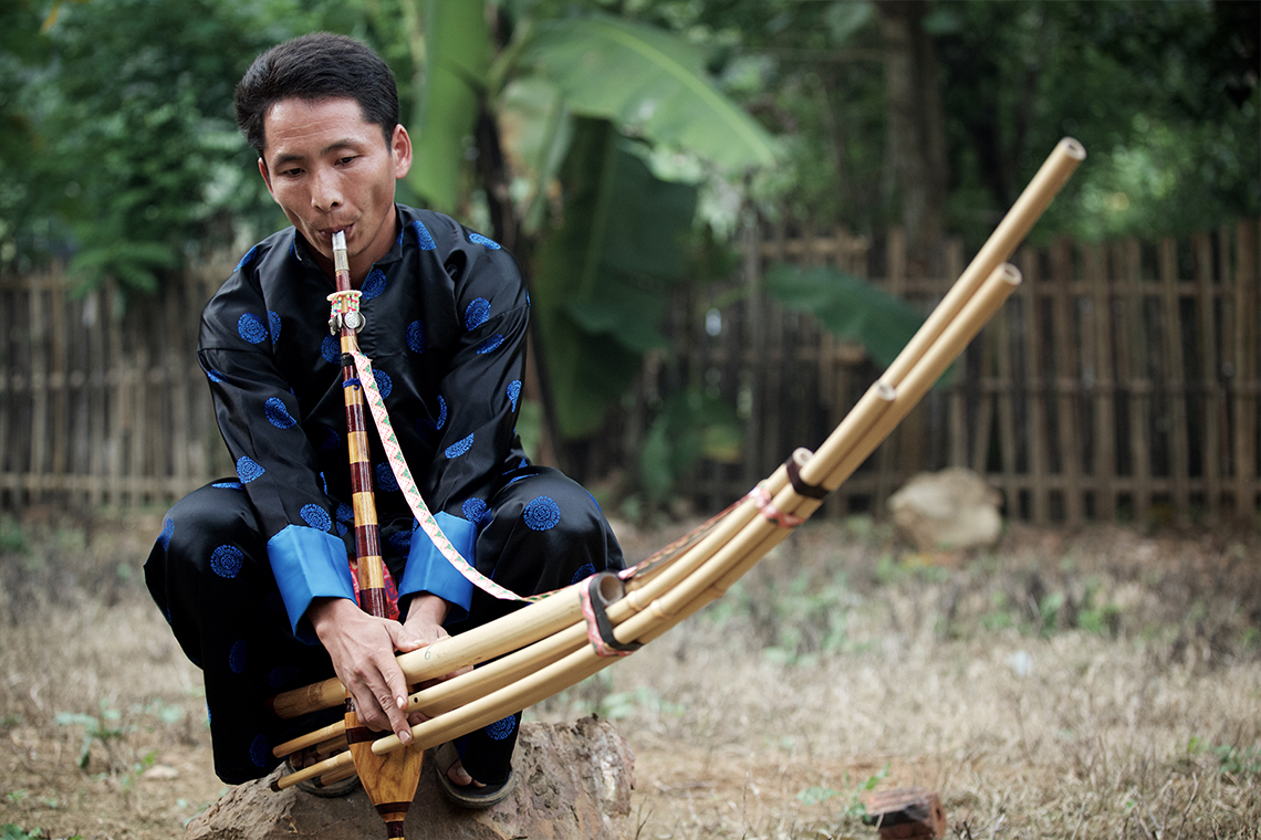 Hmong Bamboo Pipe